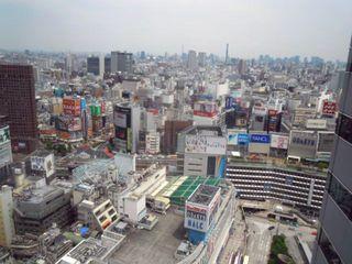 新宿エルタワー28階からの眺め