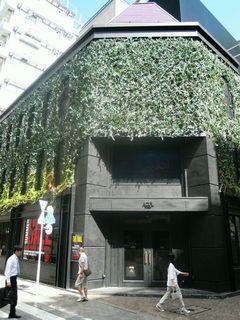植物に覆われている建物