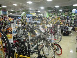 ビックカメラの自転車売場