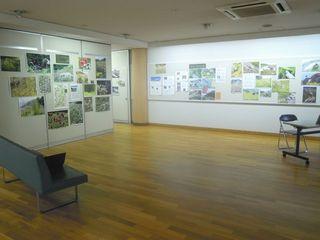 御苑インフォメーションセンターの展示