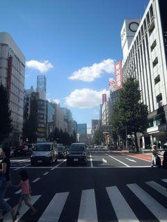 新宿の青い空